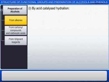 Animated video Lecture for Structure Of Functional Groups And Preparation Of Alcohols And Phenols