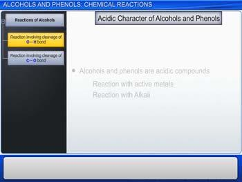 Animated video Lecture for Alcohols And Phenols: Chemical Reactions