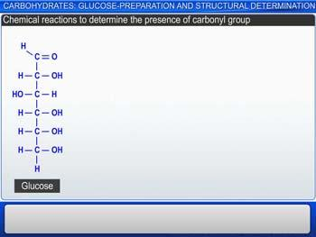 Animated video Lecture for Carbohydrates: Glucose-Preparation And Structural Determination