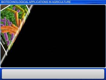 Animated video Lecture for Biotechnological Applications In Agriculture