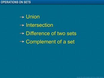 Animated video Lecture for Operations on Sets