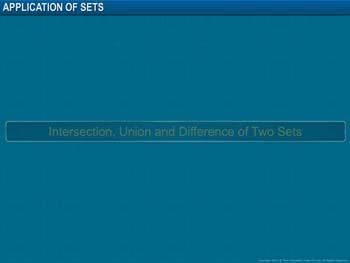 Animated video Lecture for Application of Sets