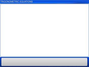 Animated video Lecture for Trigonometric Equations