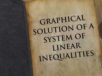 Animated video Lecture for Graphical Solution of a system of Linear Inequalities