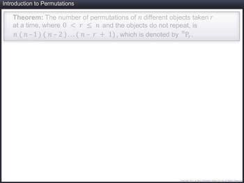 Animated video Lecture for Introduction to Permutation