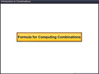 Animated video Lecture for Introduction to Combination
