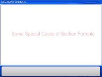 Animated video Lecture for Section Formula