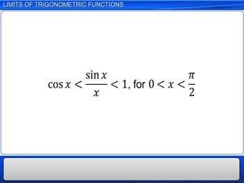 Animated video Lecture for Limits of Trigonometric Functions