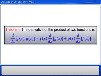 Animated video Lecture for Algebra of Derivatives