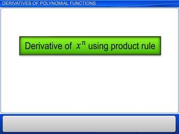 Animated video Lecture for Derivatives of Polynomial Functions