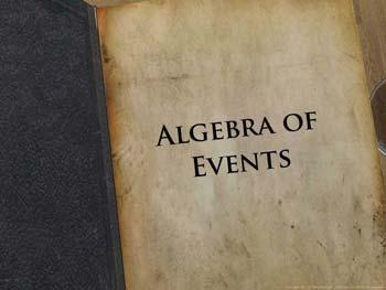 Animated video Lecture for Algebra of Events