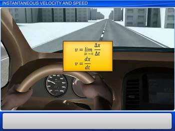 Animated video Lecture for Instantaneous Velocity and Speed