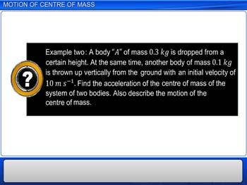 Animated video Lecture for Motion of Centre of Mass
