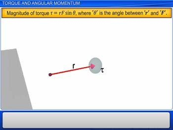 Animated video Lecture for Torque and Angular Momentum