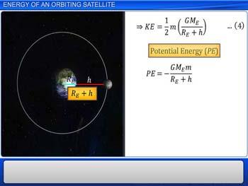 Animated video Lecture for Energy of an Orbiting Satellite