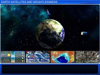 Animated video Lecture for Earth Satellites and Weightlessness