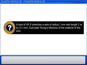 Animated video Lecture for Elastic Modulus - Young's Modulus