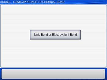 Animated video Lecture for Kossel-Lewis Approach To Chemical Bond