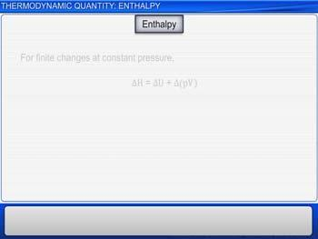 Animated video Lecture for Thermodynamic Quantity: Enthalpy