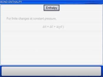 Animated video Lecture for Bond Enthalpy