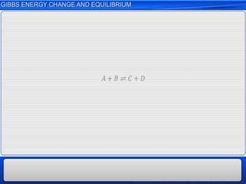 Animated video Lecture for Gibbs Energy Change and Equilibrium