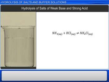 Animated video Lecture for Hydrolysis Of Salts And Buffer Solutions