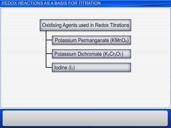 Animated video Lecture for Redox Reactions As A Basis For Titration