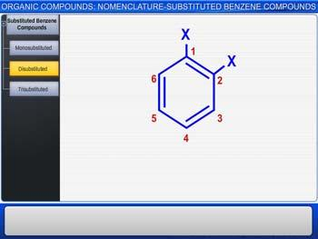 Animated video Lecture for Organic Compounds: Nomenclature-Substituted Benzene Compounds