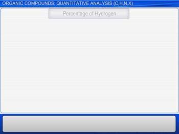 Animated video Lecture for Organic Compounds : Quantitative Analysis (C,H,N,X)