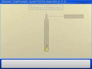 Animated video Lecture for Organic Compounds : Quantitative Analysis (S,P,O)