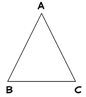 triangle, angles of a triangle, sum of the three angles of a triangle, sum of the angles, interior angles, exterior angles, sum of the two interior opposite angles