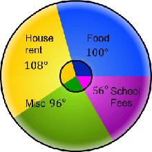 pie diagram, pie-chart, representation of data, sector, circle, angular diagram, circular diagram