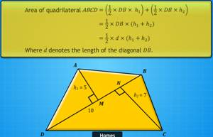 triangulation, quadrilateral, area of a quadrilateral