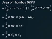triangulation, rhombus, area of a rhombus