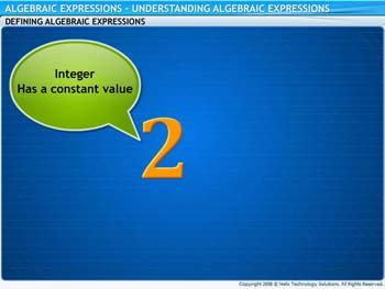 Animated video Lecture for Understanding Algebraic Expressions