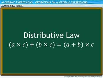 Animated video Lecture for Operations on Algebraic Expressions