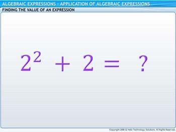 Animated video Lecture for Application of Algebraic Expressions